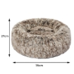 Picture of Pet Bed Cat Dog Donut Nest Calming Mat Soft Plush Kennel Coffee M | Free Delivery