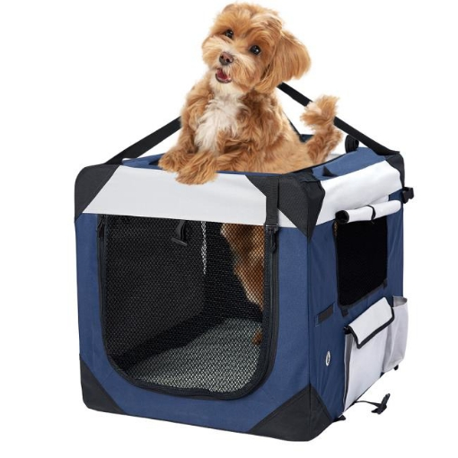 Picture of Pet Carrier Bag Dog Puppy Spacious Outdoor Travel Hand Portable Crate M | Free Delivery