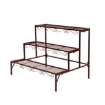Picture of Levede Plant Stand 3 Tier Rectangle Metal Flower Pot Planter Corner Shelf Bronze | Free Delivery