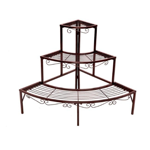 Picture of Levede Plant Stand Outdoor Indoor Metal Flower Pots Rack Corner Planter Shelf | Free Delivery
