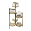 Picture of 6 Tier Plant Stand Swivel Outdoor Indoor Metal Stands Flower Shelf Gold Garden   Free Delivery