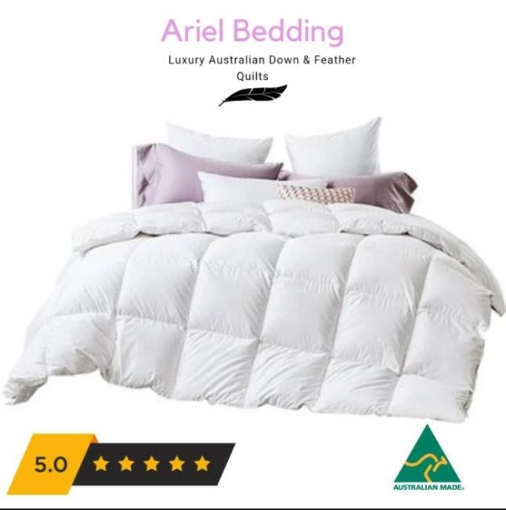 Picture of Ariel Miracle 80percent Goose ALL Seasons Quilt 2 in 1 Single | Free Delivery