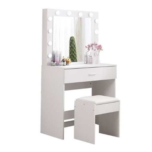 Picture of Levede Dressing Table tool Set LED Makeup Mirror Jewellery organizer Cabinet With 12 Bulbs   Free Delivery