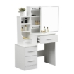 Picture of Levede Dressing Table Set Stool Mirrors Jewellery Cabinet Makeup Organizer   Free Delivery