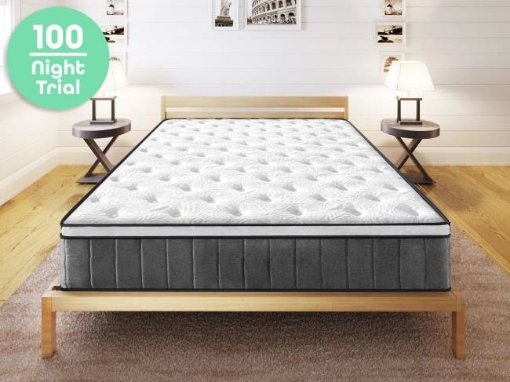Picture of Cooling Gel Hepta-Zone Hybrid Tri-Foam Spring Euro Mattress (15 Year Warranty) Size Queen | Free Delivery