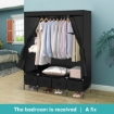 Picture of Levede Portable Wardrobe 4 Drawers Storage Cabinet Organiser With Shelves | Free Delivery