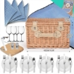 Picture of Deluxe 4 Person Picnic Basket Baskets Set Outdoor Corporate Blanket Park Trip | Free Delivery