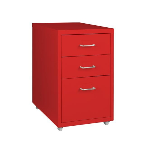 Picture of Metal Cabinet Storage Cabinets Folders Steel Study Office Organiser 3 Drawers | Free Delivery
