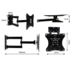 Picture of TV Wall Mount Bracket Tilet Swivel Slim Flat Motion 14-40 Inch LED LCD Universal | Free Delivery