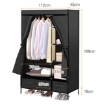Picture of Levede Portable Clothes Closet Wardrobe Black Storage Cloth Organiser Unit Shelf Rack | Free Delivery