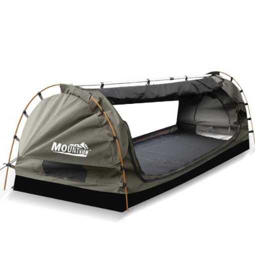 Picture of Mountview King Single Swag Camping Swags Canvas Dome Tent Free Standing Grey   Free Delivery