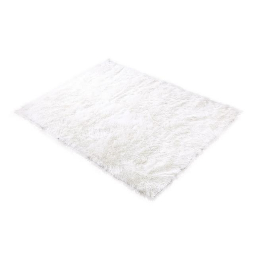 Picture of Floor Rugs Sheepskin Shaggy Rug Area Carpet Bedroom Living Room Mat 80X150 White | Free Delivery