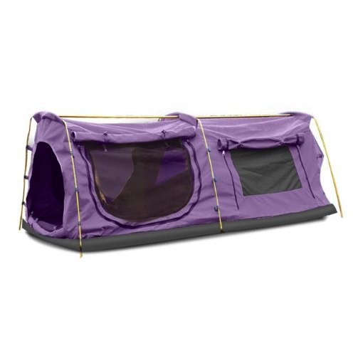 Picture of Mountview Double King Swag Camping Swags Canvas Dome Tent Hiking Mattress Purple | Free Delivery