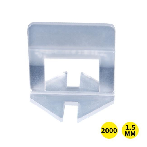 Picture of 2000x 1.5MM Tile Leveling System Clips Levelling Spacer Tiling Tool Floor Wall   Free Delivery