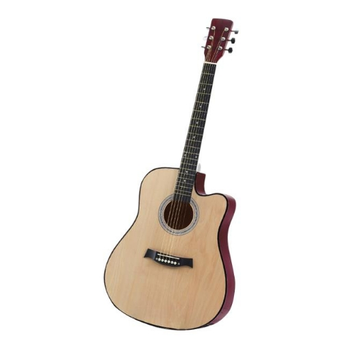 Picture of BoPeep 38 Inch Wooden Folk Acoustic Guitar Classical Cutaway Steel String w/ Bag | Free Delivery