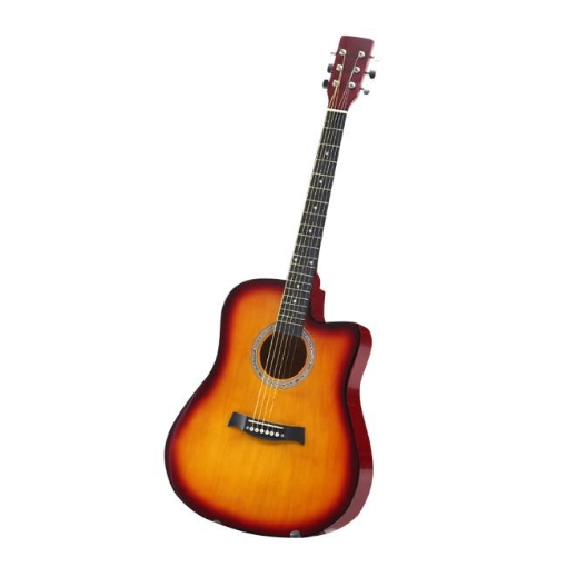 Picture of BoPeep 41 Inch Wooden Folk Acoustic Guitar Classical Cutaway Steel String w/ Bag   Free Delivery