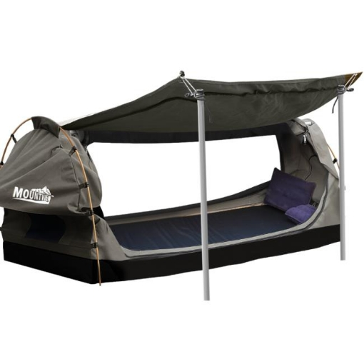 Picture of Mountview Double Swag Camping Swags Canvas Dome Tent Free Standing Grey | Free Delivery