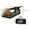 Picture of Mountview King Single Swag Camping Swags Canvas Dome Tent Free Standing Khaki | Free Delivery