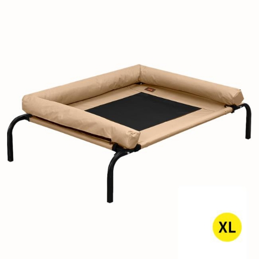Picture of PaWz Pet Bed Heavy Duty Frame Hammock Bolster Trampoline Dog Puppy Mesh S Tan | Free Delivery