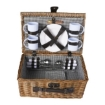 Picture of Picnic Basket Set 4 Person Willow Baskets Deluxe Outdoor Travel Camping Travel | Free Delivery