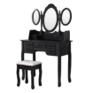 Picture of Levede Dressing Table Stool Mirror Drawer Cabinet Jewellery Organizer Bedroom | Free Delivery