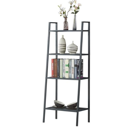 Picture of 4 Tier Ladder Shelf Unit Bookshelf Bookcase Book Storage Display Rack Stand | Free Delivery