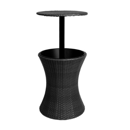 Picture of Cooler Ice Bucket Table Bar Outdoor Setting Furniture Patio Pool Storage Box Black | Free Delivery