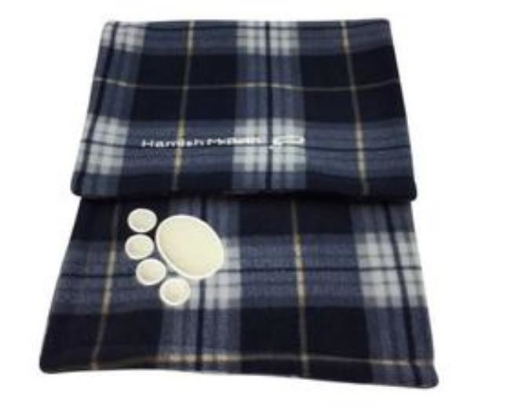 Picture of Blue Tartan Dog Blanket | Free Delivery