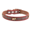 Picture of Highland Red Tartan Dog Collar Size Medium | Free Delivery