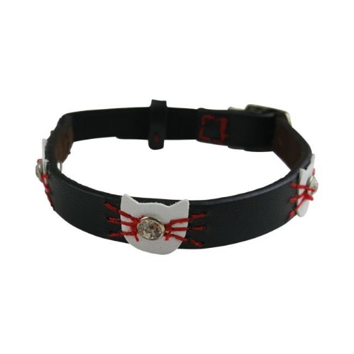 Picture of Black Felix Cat Collar Color Black | Free Delivery