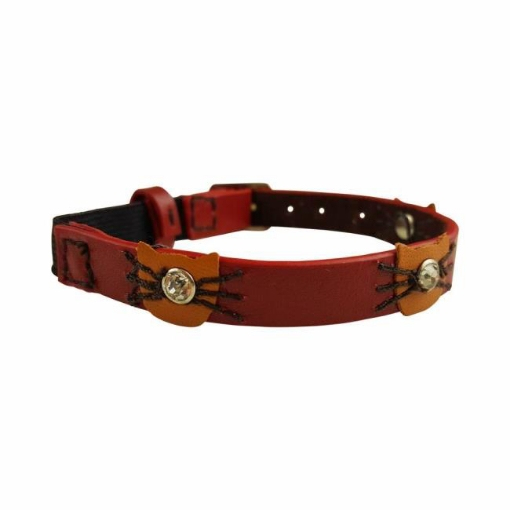 Picture of Red Felix Cat Collar Color Red | Free Delivery
