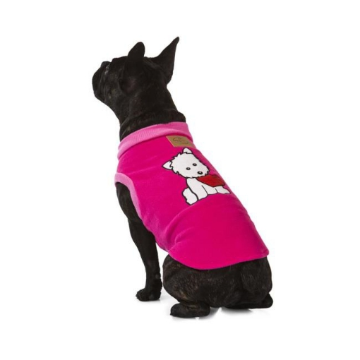 Picture of Puppy Heart Pink Dog Pyjamas Size 70 | Free Delivery