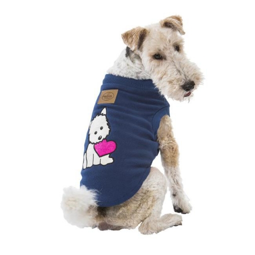 Picture of Puppy Heart Blue Dog Pyjamas Size 80   Free Delivery