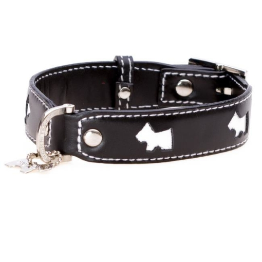 Picture of Black Hamish Dog Collar Size Medium   Free Delivery