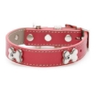 Picture of Red Bones Bling Dog Collar Size Medium | Free Delivery