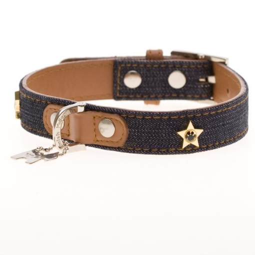 Picture of Denim Dog Collar Size Small | Free Delivery