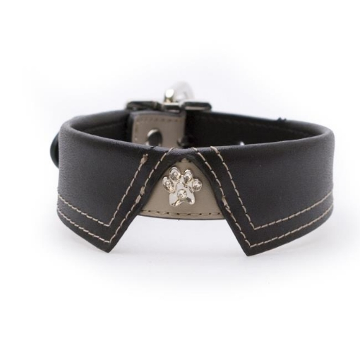 Picture of Saville Row Black Dog Collar Size Medium | Free Delivery