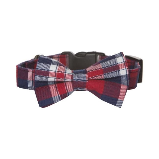 Picture of Bow Tie Dog Collar - Tartan Size Medium | Free Delivery