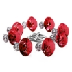 Picture of 10 Pcs 30mm Red Diamond Shape Glass Door Knob Drawer Cabinet Handle | Free Delivery