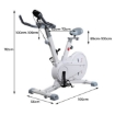 Picture of Spin Bike Magnetic Fitness Exercise Bike Flywheel Commercial Home Gym Workout | Free Delivery