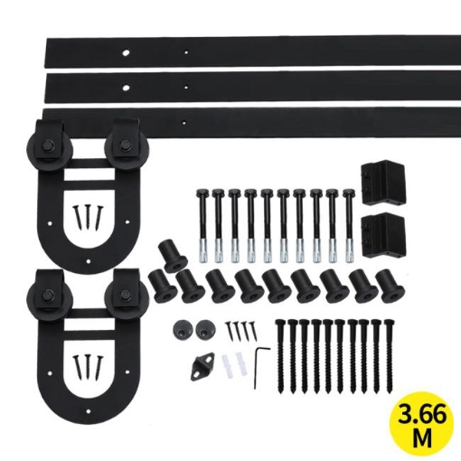 Picture of 3.66M Antique Classic Style Single Sliding Barn Door Hardware Track Roller Kit | Free Delivery