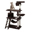 Picture of Cat Tree Beastie Scratching Post Pet Scratcher Condo Tower 140cm Dark Brown | Free Delivery