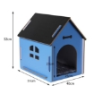 Picture of Wooden Dog House Pet Kennel Timber Indoor Cabin Medium Blue M | Free Delivery
