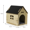 Picture of Wooden Dog House Pet Kennel Timber Indoor Cabin Medium Oak M | Free Delivery