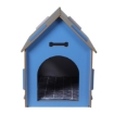 Picture of Wooden Dog House Pet Kennel Timber Indoor Cabin Extra Large Blue XL | Free Delivery