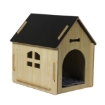 Picture of Wooden Dog House Pet Kennel Timber Indoor Cabin Extra Large Oak XL   Free Delivery