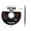 """Picture of Grinder Disc Cutting Discs 5"""" 125mm Metal Cut Off Wheel Angle Grinder 100PCS 