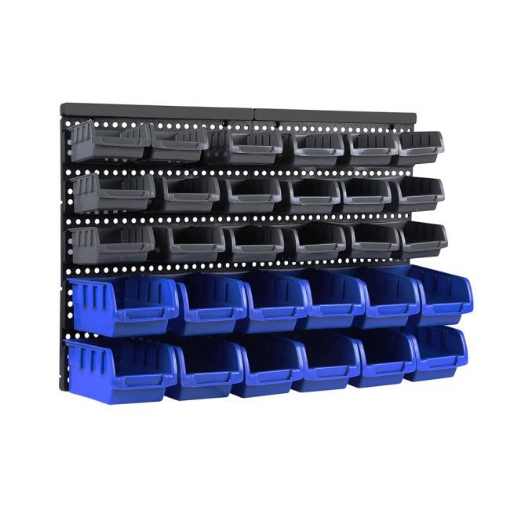 Picture of 30 Tool Storage Bins Tool box Wall Mounted Organiser Parts Garage Workshop Boxes | Free Delivery