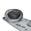 Picture of PaWz Pet Bed Set Dog Cat Quilted Blanket Squeaky Toy Calming Warm Soft Nest Grey L | Free Delivery