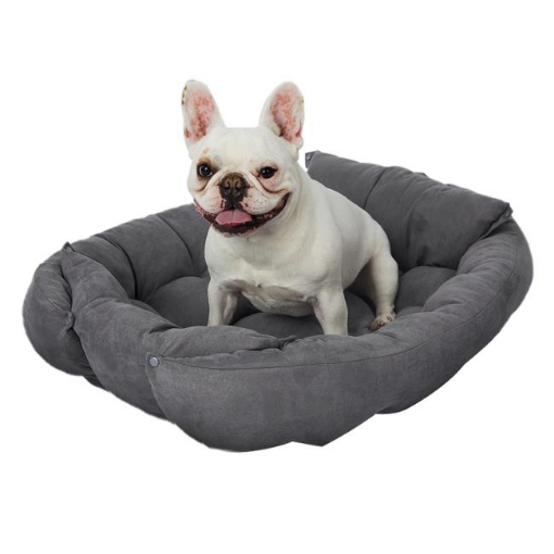 Picture of PaWz Pet Bed 2 Way Use Dog Cat Soft Warm Calming Mat Sleeping Kennel Sofa Grey M | Free Delivery